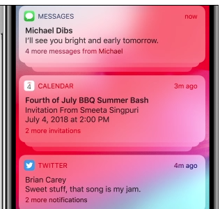 IOS 12 Grouped Notifications by Apple