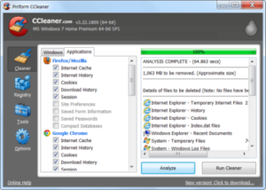 ccleaner tool