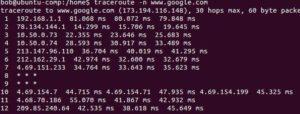 traceroute command linux
