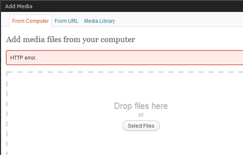 wordpress uploading error