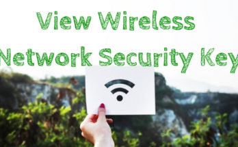 Find Wireless Network Security Key View WiFi Password
