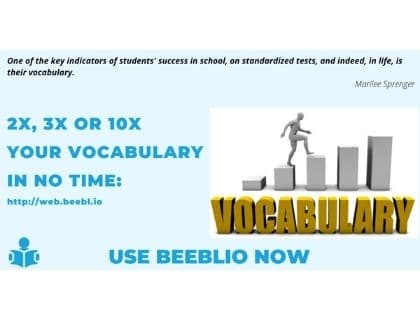 Improve your vocabulary using Beeblio
